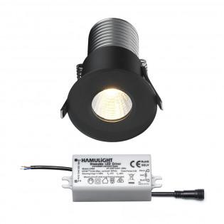 Citizen LED Einbaustrahler | Schwarz | Warm Weiß | 7 Watt | Dimmbar L2145