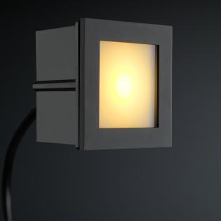 Cree LED Treppenbeleuchtung Bilbao | Schwarz | Eckig | Warm Weiß | 1 Watt L2172