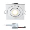 Creelux LED Einbaustrahler | Eckig | Warm Weiß | 3 Watt | Dimmbar | Kippbar