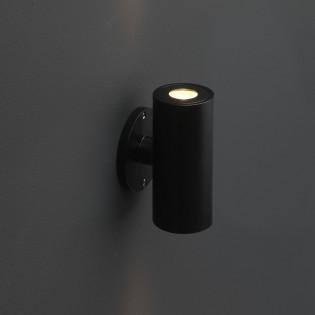 Cree LED Wandleuchte Amadora | Schwarz | Warm Weiß | Rund | 2 x 1,5 Watt | Up & Down L2210