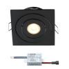 Creelux LED Einbaustrahler | Schwarz | Eckig | Warm Weiß | 3 Watt | Dimmbar | Kippbar