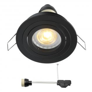 Coblux LED Einbaustrahler   Schwarz   Warm Weiß   5 Watt   Dimmbar   Kippbar L2154