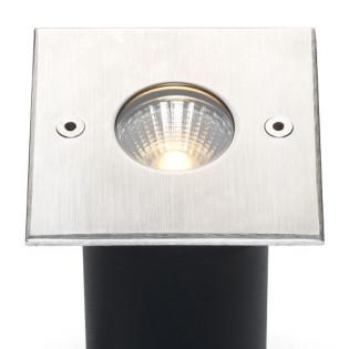 Cree LED Bodeneinbaustrahler Meda | Warm Weiß | 5 Watt | Eckig | 24 Volt L2183