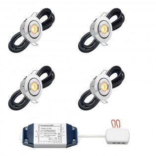 Cree LED Einbaustrahler Toledo bas | Kippbar | Warm Weiß | Set mit 4, 6, 8, 10  oder 12 Stück LIBS2020
