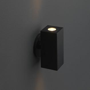 Cree LED Wandleuchte Lamego | Schwarz | Warm Weiß | Eckig | 2 x 1,5 Watt | Up & Down L2211
