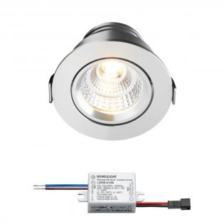 Sharp LED Einbaustrahler Granada | Warm Weiß | 4 Watt | Dimmbar | Kippbar L2163