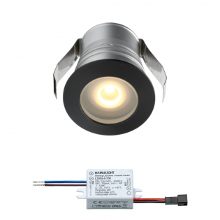 Cree LED Einbaustrahler Burgos | Schwarz | Warm Weiß | 3 Watt | Dimmbar L2301