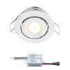 Creelux LED Einbaustrahler | Weiß | Warm Weiß | 3 Watt | Dimmbar | Kippbar