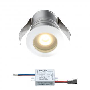 Cree LED Einbaustrahler Burgos | Weiß | Warm Weiß | 3 Watt | Dimmbar L2302