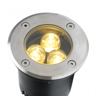 Cree LED Bodeneinbaustrahler | Warm Weiß | 3 Watt | Runde L1040