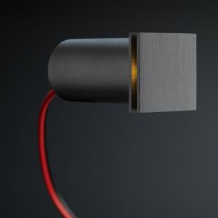Cree LED Treppenbeleuchtung Hernani | Schwarz | Eckig | Warm Weiß | 1 Watt L2174