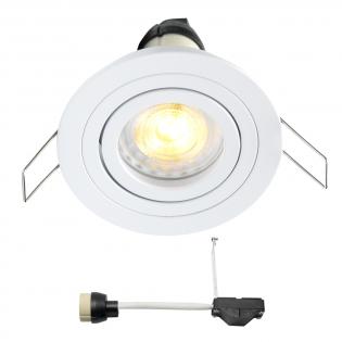 Coblux LED Einbaustrahler | Weiß | Warm Weiß | 5 Watt | Dimmbar | Kippbar L2067