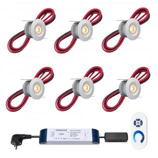 Cree LED Einbaustrahler Veranda Madrid ab | Warm Weiß | Set mit 6, 8, 10 oder 12 Stück L2135