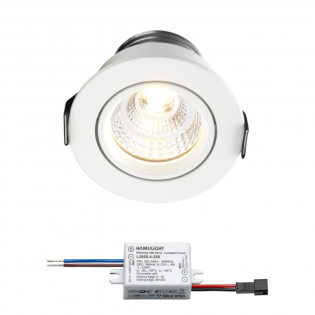 Sharp LED Einbaustrahler Granada | Weiß | Warm Weiß | 4 Watt | Dimmbar | Kippbar L2164
