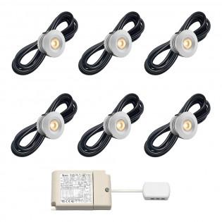 Cree LED Einbaustrahler Veranda Sevilla io | Warm Weiß | Set mit 6, 8, 10 oder 12 Stück L2139