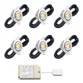 Cree LED Einbaustrahler Veranda Toledo rts | Kippbar | Warm Weiß | Set mit 6, 8, 10 oder 12 Stück L2150