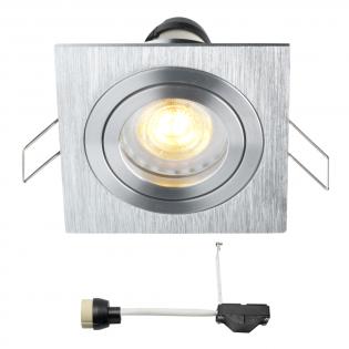 Coblux LED Einbaustrahler | Eckig | Warm Weiß | 5 Watt | Dimmbar | Kippbar L2062