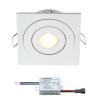 Creelux LED Einbaustrahler | Weiß | Eckig | Warm Weiß | 3 Watt | Dimmbar | Kippbar
