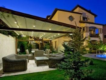 Terrassenüberdachung Beleuchtung LED